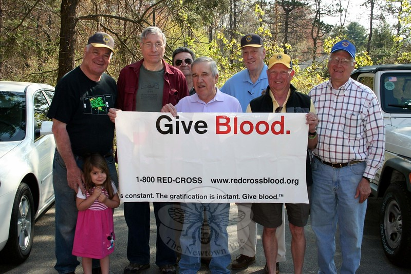 The Newtown Lions Club will sponsor the May 11 American Red Cross Blood Drive taking place at Newtown Congregational Church, 14 West Street. The local Lions Club sponsors two blood drives a year under the guidance of the Lions' Health Committee. The January Drive resulted in almost 100 pints donated. The Lions have been supported at each blood drive by Dunkin' Donuts, Newtown Woman's Club, Women Involved in Newtown, and the Congregational Church. The May 11 drive will be conducted from 8:30 am to 6:15 pm. Walk-ins are welcome but reservations are encouraged. Call 800-733-2767 or visit redcrossblood.org for details or reservations. (Hicks photo)