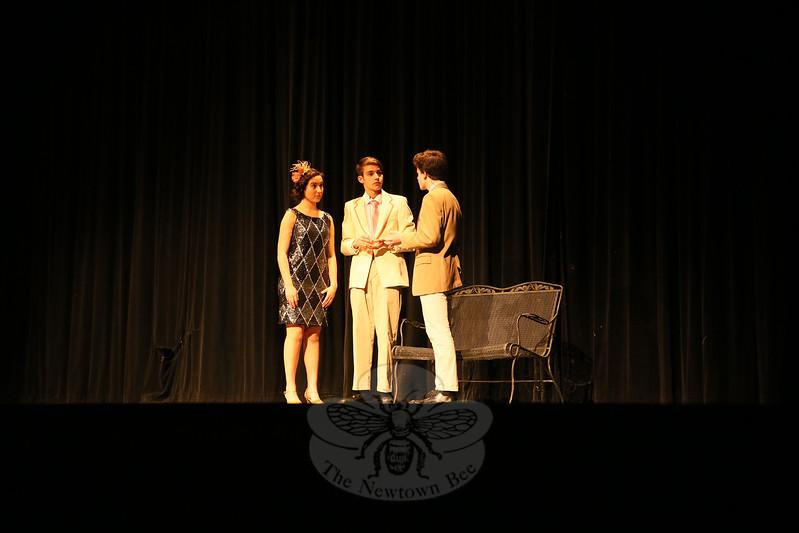 From left, Julia Bogdanoff, Joseph Verga, and Tom Coppinger on November 9. (Hallabeck photo)