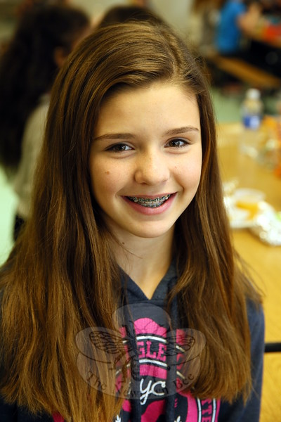 The Newtown Bee: What are you thankful for? Morgan Seras: I'm thankful for Newtown Kindness. (Hallabeck photo)