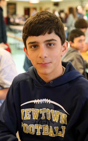 The Newtown Bee: What are you thankful for? Chris Frascatore: I'm thankful for my parents caring for me and driving me to sports practices. (Hallabeck photo)