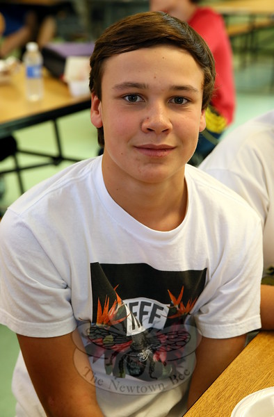 The Newtown Bee: What are you thankful for? Ty Lawsen: My family and friends. (Hallabeck photo)