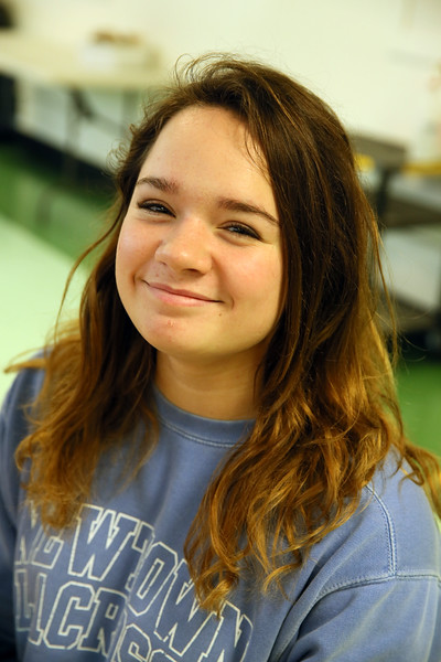 The Newtown Bee: Who is the most inspirational person you have studied in school? Kelsey Pearson: Rosa Parks, because she stood up to people when you weren't supposed to. (Hallabeck photo)