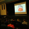 Newtown Middle School students watched the 2008 film Ponyo on Thursday, November 19, in the school's auditorium. (Hallabeck photo)