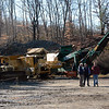 Arrayed the base of a slope at 4 Toddy Hill Road in Sandy Hook were some of the many pieces of industrial equipment auctioned off at the JF Walsh Mulch & Logging Company. (Gorosko photo)