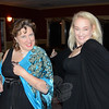 In 1935, a group of creative Newtowners decided to start a theater group to raise money for town needs and enjoy each other's company. On Saturday, October 17, dozens of supporters including Linda Gilmore, left, and Julie Berg joined current and former members of the troupe for an 80th anniversary  celebration of Town Players of Newtown at Newtown Country Club. (Voket photo)