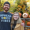 Life Is Good Co-Founder John Jacobs, left, stopped in Newtown while on a 60-day #GROWtheGood tour to show his support The Great Pumpkin Challenge. He was impressed, he said, by the heroic efforts of Mackenzie Page, right.  (Hicks photo)