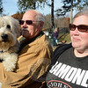 Janice Butler and her father James attended the dog costume party with their friendly 7½-year-old female Wheaten terrier, Bailey. (Gorosko photo)
