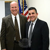 Police Chief Michael Kehoe, left, at the Tuesday, November 3, Police Commission meeting, is seen with James Viadero, whom the Police Commission named as the town's new police chief. (Gorosko photo)