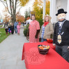 Newtown Savings Bank staff members were in costume to welcome visitors on October 31 for Halloween festivities on Main Street. (Bobowick photo)