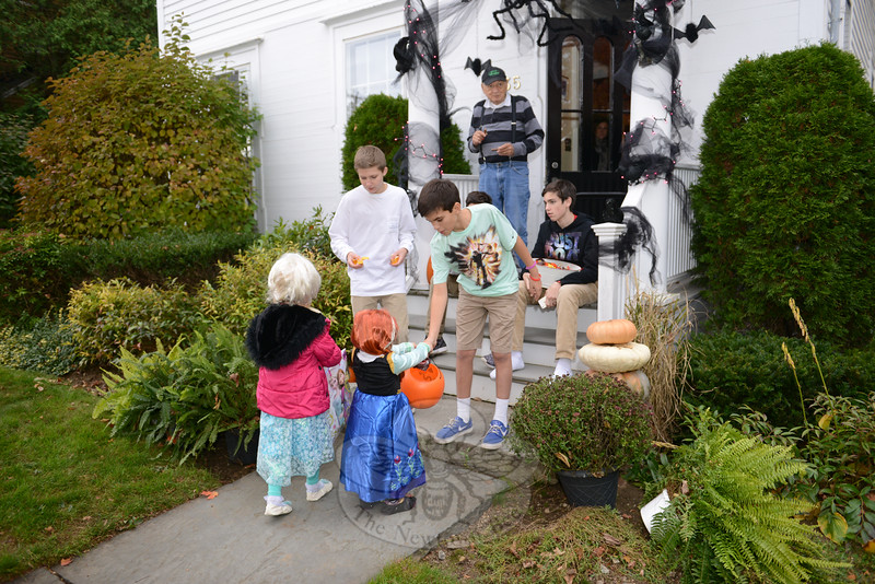 Dressed in costumes, kids made their way to 35 Main Street on October 31 for Halloween. (Bobowick photo)