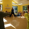 Chris Schaefer, an instructor at Steve DeMasco's Shaolin Studios of Newtown, led a lesson and demonstration on kung-fu for Children's Adventure Center students on Thursday, October 8. (Hallabeck photo)