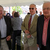 From left, Scott Conover, Robert Hall, and Judge William Lavery were among the dozens of friends, colleagues, and admirers who turned out for a celebration in memory of Newtown's late state representative Julia Wasserman September 26. (Voket photo)