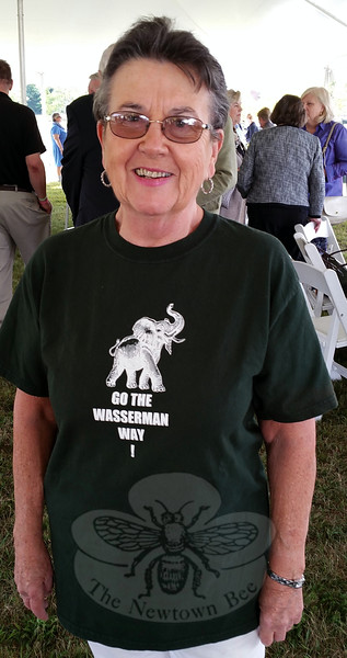 Barbara O'Connor donned one of her favorite T-shirts that she originally wore accompanying Julia Wasserman during one of the many Labor Day parades the pair marched in over the years. (Voket photo)