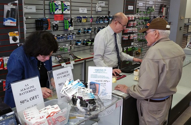 Since 1982, store owner Sue Goldberg and her husband Hugh have assisted three generations of Newtown and area customers at the local Radio Shack. But this weekend, the couple plan to close their doors for good and head into retirement. (Voket photo)