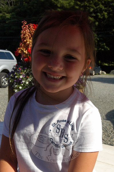 The Newtown Bee: What is your favorite type of exercise? Riley Madison: I like to do gymnastics. (Baudisch photo)