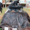 Entries in this year's My Favorite Scarecrow Sculpture Contest were on view by Saturday, October 23, on the front lawn of Newtown Middle School. (Hicks photo)
