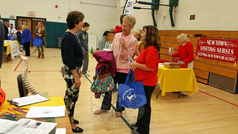 Health Fair organizers Dr Della Schmid, far left, and Health District Director Donna Culbert, right, with attendee Beverly Panettiere. (Voket photo)