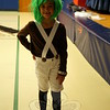 Macey Arcario was dressed as an Oompa Loompa for Hawley's screening of Willy Wonka & the Chocolate Factory. (Hallabeck photo)