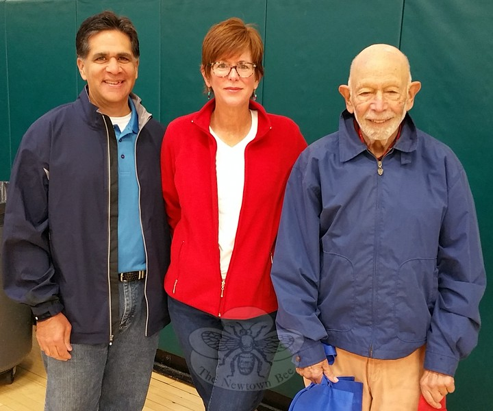 Glenn Nanavaty  with Health District Food Service Inspector Suzette LeBlanc and Dr Robert Grossman during the 22nd Annual Health & Safety Fair October 3. (Voket photo)