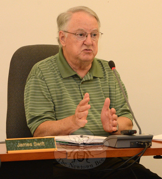 Planning and Zoning Commission (P&Z) Chairman Robert Mulholland, along with other P&Z members, on September 3 turned down a proposal to create some new elderly housing zoning regu-lations. (Gorosko photo)