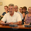 Local builder/developer Kim Danziger, foreground, spoke to Planning and Zoning Commission members at a September 3 public hearing on his proposal for some new zoning regulations covering elderly housing, also known as age-restricted housing. (Gorosko photo)