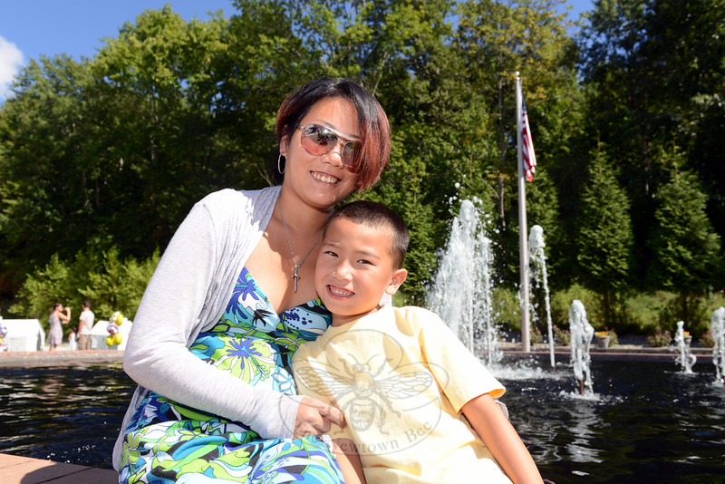 Celebrating his seventh birthday on Sunday was Luca Vast, shown with his mother Kristin. (Bobowick photo)