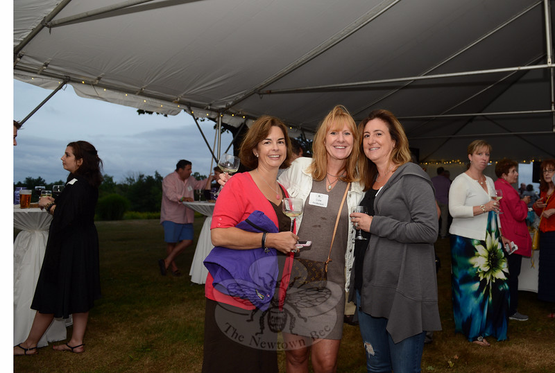 Among those enjoying an evening of cocktails and conversation were, from left, Bonnie Zahansky, Nancy Anderson and Renee McManus. (Bobowick photo)