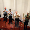The Danbury Trombone Outfit members are, from left, Lisa Romeo, Richard Gosnay, Dave Burns, Chris Shrock, and Tom Lemak. (Voket photo)