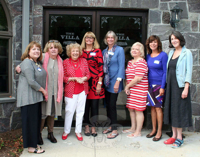 Newtown VNA held its annual meeting on September 9, and elected a new slate of officers. From left is Carol Garbarino, Maureen McLaughlin, Mae Schmidle, Mary Tietjen, Deb Osborne, Anna Wiede-mann, Rebeka Dahlgard and Alice Falkowitz. (Hicks photo)