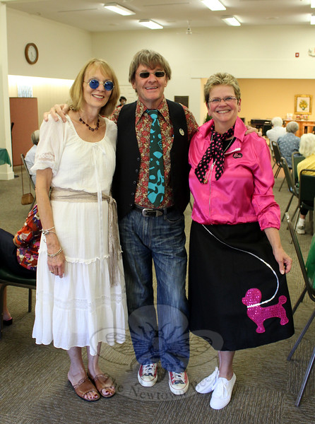Golden Opportunities Director of Special Programs Susan Callaghan, Director of Operations Neil Callaghan and Founder/Executive Director Knettie Archard led the way when it came to dressing for Retro Fest on September 17 at Nunnawauk Meadows. The trio, along with additional GO board members, arranged for live music, trivia games, light refreshments, and dinner during the 2½-hour event. Golden Opportunities is a Sandy Hook-based nonprofit organization devoted to improving the quality of life for the elderly, primarily those residing in eldercare and retirement facilities. (Hicks photo)