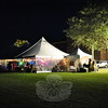The tent where the Rooster Ball was hosted on Friday shown with light as event goers began arriving. (Hallabeck photo)