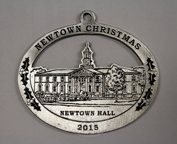 The 2015 Newtown Woman's Club Christmas Ornament depicts Newtown Hall at Fairfield Hills, which was originally constructed to serve as the main administrative building for the state psychiatric hospital. (Hicks photo)