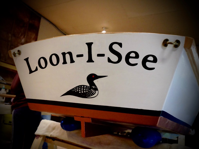 YCC's first boat building project a few years back was the <b>Loon-I-See</b> skiff. Since it serves as an Eastman rental and gets a lot of use, it was due for some refreshing this year.