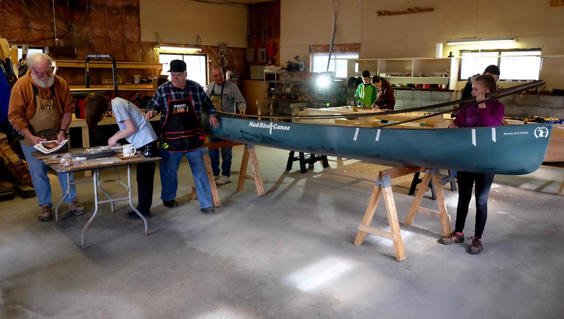 The boat building Workshop.