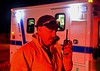 Incident Commander Hatton on the scene of a wildland fire in Teller County, Colorado. April 7, 2015