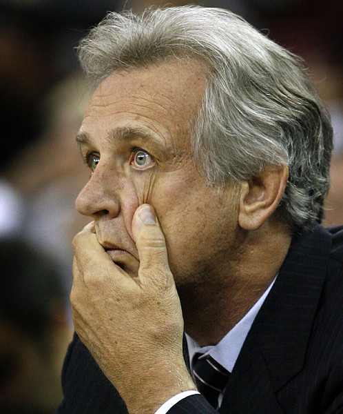 Sacramento Kings head coach Paul Westphal reacts as his team falls farther behind the Los Angeles Clippers in the first half of an NBA basketball game, Thursday, Oct. 7, 2010 in Sacramento, Calif.  AP Photo/Dino Vournas