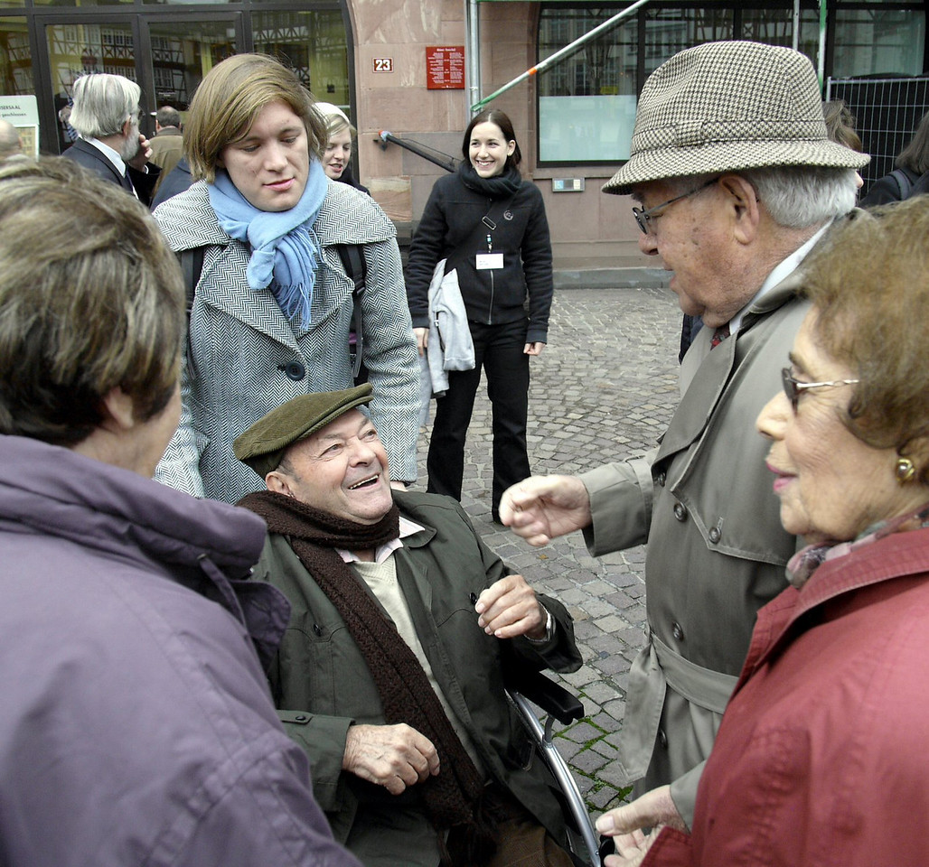 The gentleman on the right, Albert Kimmelstiel, became Wollheim's close friend while in Buna and remained so until Wollheim's death in 1998.