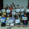 Seventeen Head O' Meadow fourth graders were among the nearly 150,000 students worldwide to participate this year in the Math Olympiad program. They participated in a series of five monthly contests of five problems each from November to March. During weekly practice sessions under the supervision of math/science specialist Gail Maletz, the students worked to solve unusual and difficult problems and to think creatively. The students, pictured with Ms Maletz but not in order, were also recognized for their participation during a whole school assembly on Wednesday, June 19: Matthew Carpenter, Sophia Child, Julia Dolan, Annie Fowler, Chelsea Fowler, Tyler Hill, Michael Jewell, Joshua Kemsley, Anika Ledina, Caroline Mahoney, Kyle Reilly, Victoria Stevenson, Miller Tetreault, Eric Vine, Evan Wei, Yvonne Wei, and Jacob Zatlukal.   (Hallabeck photo)