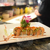 The Fusion 25 sushi bar offers fresh dishes such as the shrimp and cucumber roll topped with salmon and avocado with a spicy mayonnaise dressing.  (Bobowick photo)