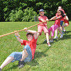 Zach Leonard, Will Hornsby, and Lauren Nalajala dug in during a four-way tug of war dur-ing Middle Gate School's annual Field Day on Monday, June 17.   (Dietter photo)