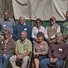 Standing l-r: John Huston, BLM; Larry Elcock, PacifiCorp; Aimee Davison, Shell; Sam Drucker, BLM, Sublette Cnty Hist Soc, Wy Archaeological Society; Chris Nelson, PacifiCorp; Sitting, Members of Sublette County Hist Soc