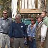 l-r: John Huston, BLM; Larry Elcock, PacifiCorp; Aimee Davison, Shell; Sam Drucker, BLM, Sublette Cnty Hist Soc, Wy Archaeological Society; Chris Nelson, PacifiCorp