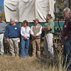 l-r: John Huston, BLM; Larry Elcock, PacifiCorp; Aimee Davison, Shell; Sam Drucker, BLM, Sublette Cnty Hist Soc, Wy Archaeological Society; Chris Nelson, PacifiCorp; Clint Gilchrist, Sublette County Hist Soc