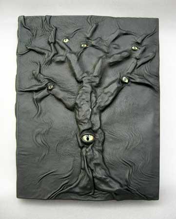 Black leather eyetree journal