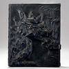 Leather ipad cover with dragon on front
