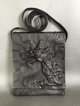 Leather pouch with dragon head