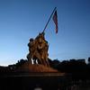 Iwo Jima Memoria at sunset
