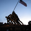 Iwo Jima Memorial at sunset.