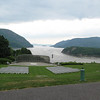 Looking over the Hudson River at the defending point to keep the British from coming up river.  Now concerts are held at this location.