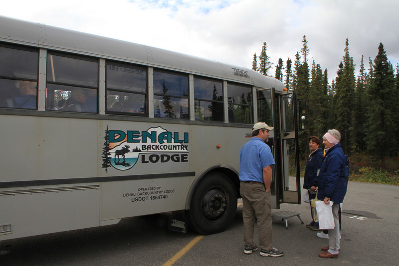 The park service will only allow the lodge's bus to transport people out to their remote lodge.  Won't be clean for long.